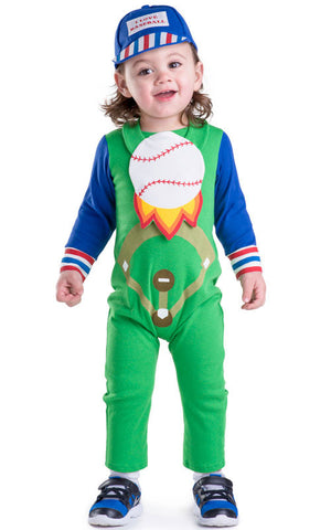 Boys Baseball Baby Costume - HalloweenCostumes4U.com - Infant & Toddler Costumes