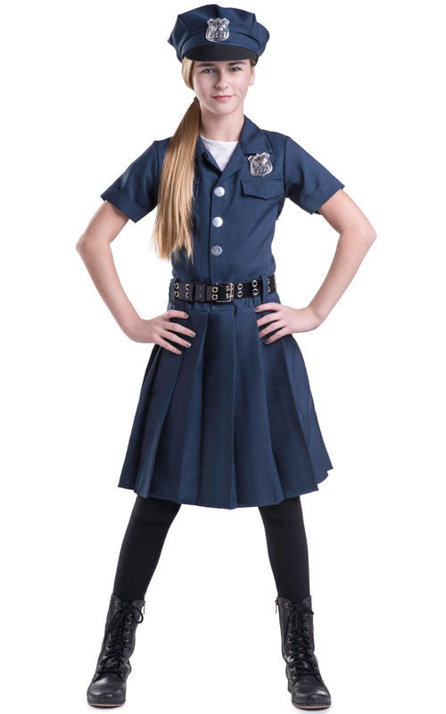 Girls Police Officer Costume - HalloweenCostumes4U.com - Kids Costumes