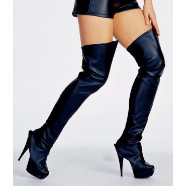 Black Thigh High Boot Tops - HalloweenCostumes4U.com - Accessories