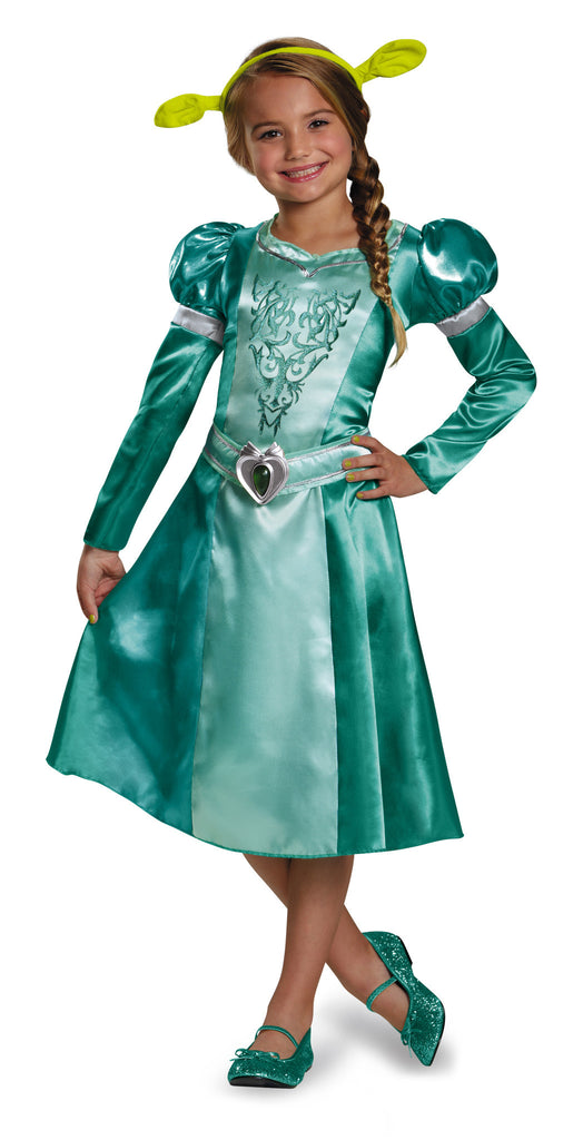 Girls Shrek Princess Fiona Costume - HalloweenCostumes4U.com - Kids Costumes