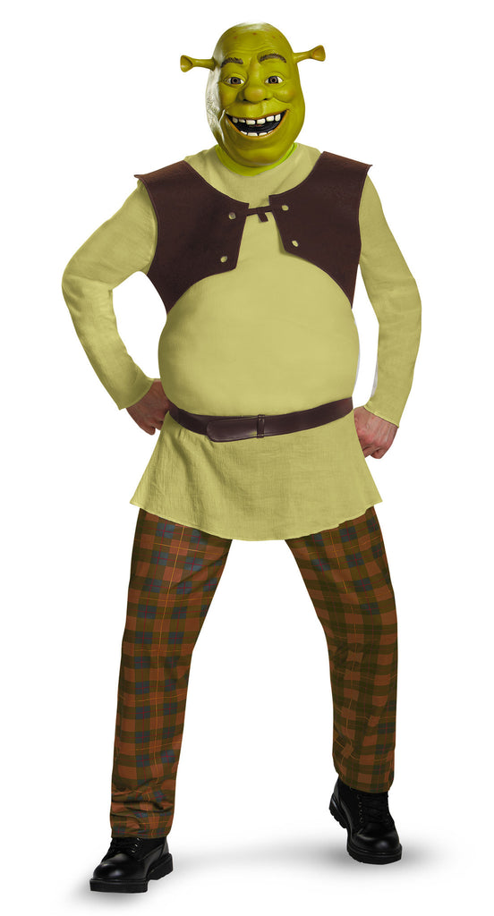 Mens Deluxe Shrek Costume - HalloweenCostumes4U.com - Adult Costumes