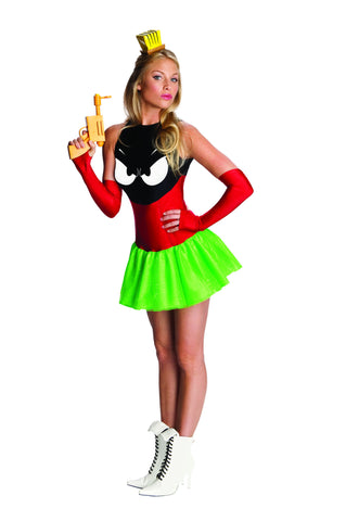 Womens/Teens Looney Tunes Marvin the Martian Costume - HalloweenCostumes4U.com - Adult Costumes
