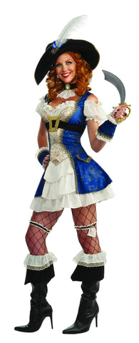 Womens Bonnie Blue Victorian Pirate Costume - HalloweenCostumes4U.com - Adult Costumes
