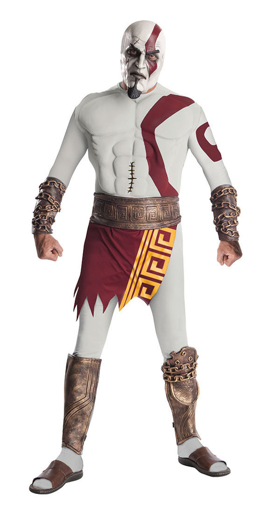 details mens god of war kratos costume