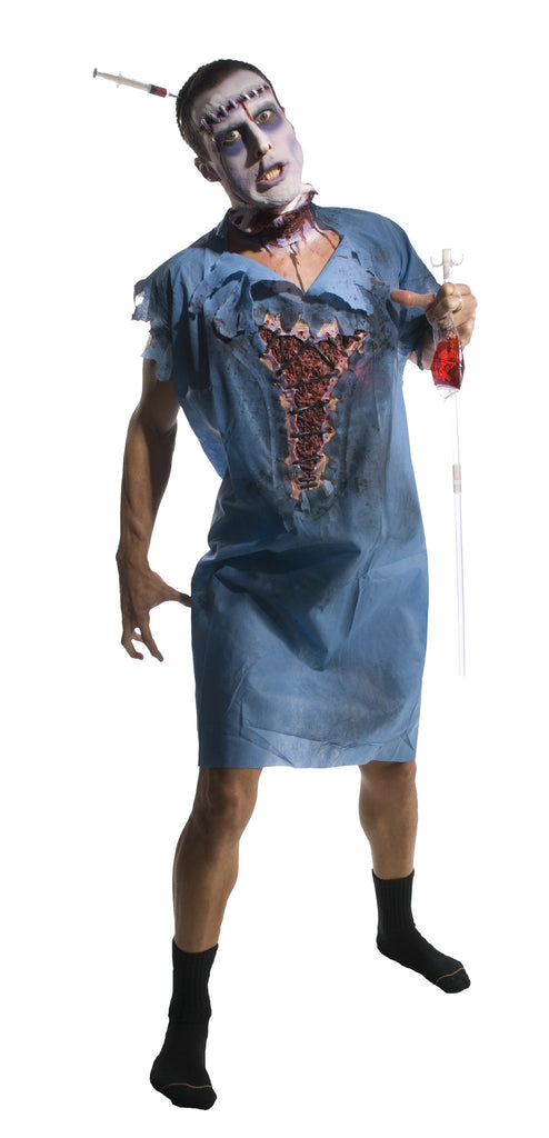 Adults Zombie Patient Costume - HalloweenCostumes4U.com - Adult Costumes