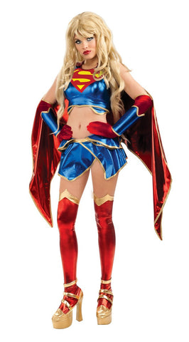 Womens/Teens Anime Supergirl Costume - HalloweenCostumes4U.com - Adult Costumes