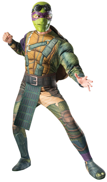 Mens Ninja Turtles Deluxe Donatello Costume - HalloweenCostumes4U.com - Adult Costumes - 1