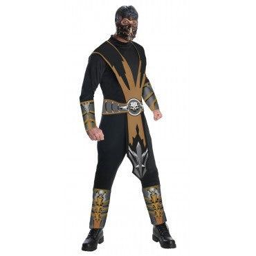 Mens Mortal Kombat Scorpion Costume - HalloweenCostumes4U.com - Adult Costumes