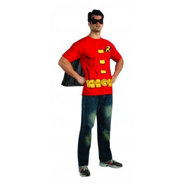 Mens Batman Robin Costume Shirt - HalloweenCostumes4U.com - Adult Costumes