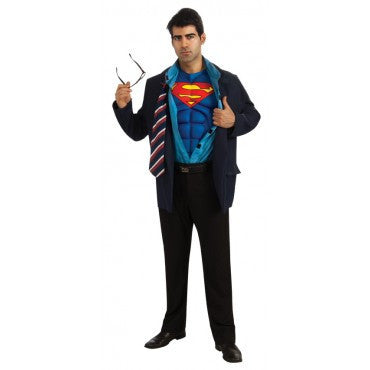 Mens Superman/Clark Kent Costume - HalloweenCostumes4U.com - Adult Costumes