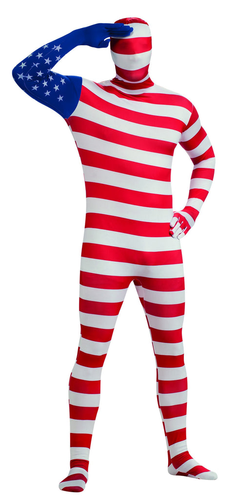 Adults American Flag Skin Suit - HalloweenCostumes4U.com - Adult Costumes