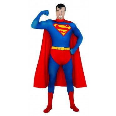 Mens Superman Skin Suit - HalloweenCostumes4U.com - Adult Costumes