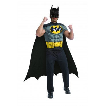Mens Batman Muscle Chest Shirt - HalloweenCostumes4U.com - Adult Costumes