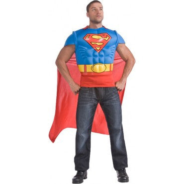 Mens Superman Muscle Chest Shirt - HalloweenCostumes4U.com - Adult Costumes