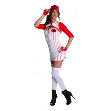 Womens/Teens Playboy Baseball Babe Costume - HalloweenCostumes4U.com - Adult Costumes