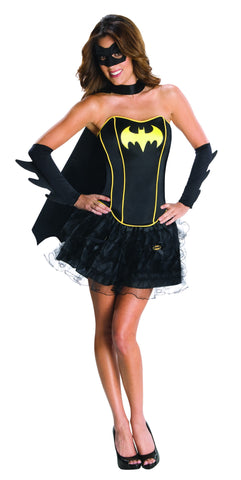 Womens/Teens Batman Batgirl Corset Costume - HalloweenCostumes4U.com - Adult Costumes