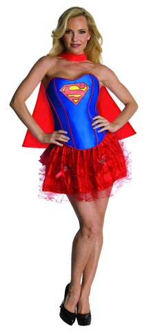 Womens/Teens Supergirl Corset Costume - HalloweenCostumes4U.com - Adult Costumes