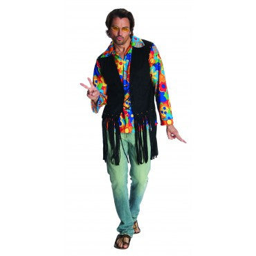 Mens Hippie Flower Power Costume - HalloweenCostumes4U.com - Adult Costumes