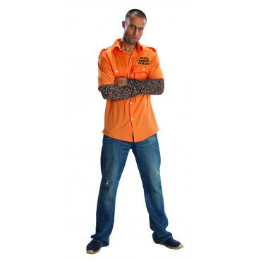 Mens Tattooed Prisoner Costume - HalloweenCostumes4U.com - Adult Costumes
