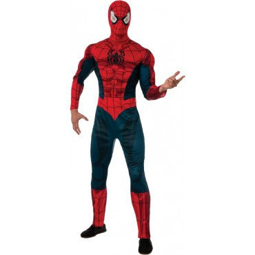 Mens Deluxe Spider-Man Costume - HalloweenCostumes4U.com - Adult Costumes