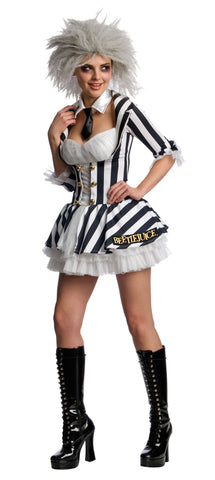 Womens/Teens Beetlejuice Costume - HalloweenCostumes4U.com - Adult Costumes