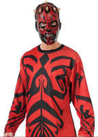 Mens Star Wars Darth Maul Shirt and Mask - HalloweenCostumes4U.com - Adult Costumes