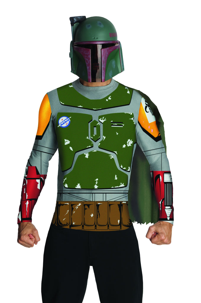 Mens Star Wars Boba Fett Shirt & Mask - HalloweenCostumes4U.com - Adult Costumes