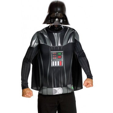 Mens Star Wars Darth Vader Shirt and Mask - HalloweenCostumes4U.com - Adult Costumes