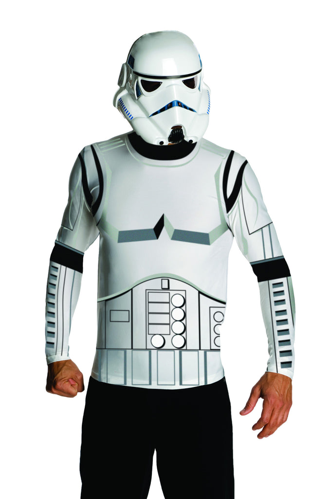 Adults Star Wars Stormtrooper Shirt and Mask - HalloweenCostumes4U.com - Adult Costumes