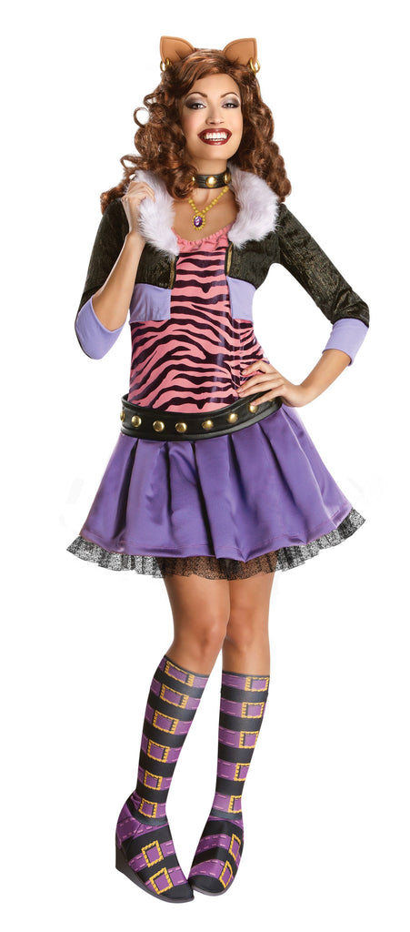 Womens/Teens Monster High Clawdeen Wolf Costume - HalloweenCostumes4U.com - Adult Costumes