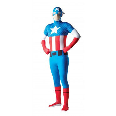 Mens Captain America Skin Suit - HalloweenCostumes4U.com - Adult Costumes