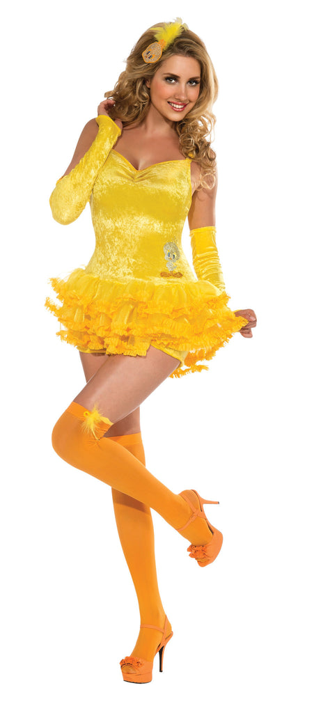 Womens/Teens Tweety Bird Costume - HalloweenCostumes4U.com - Adult Costumes