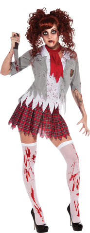 Womens Zombie School Girl Costume - HalloweenCostumes4U.com - Adult Costumes