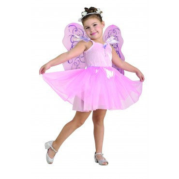 Girls Pretty Pink Fairy Costume - HalloweenCostumes4U.com - Kids Costumes