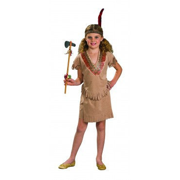 Girls American Indian Girl Costume - HalloweenCostumes4U.com - Kids Costumes