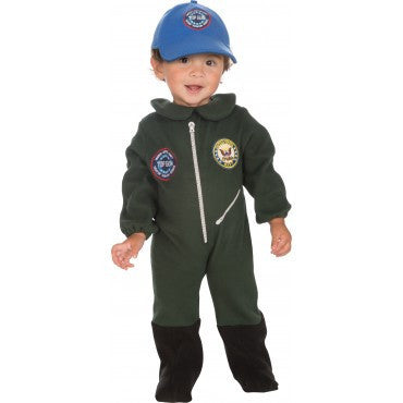 Infants/Toddlers Top Gun Flight Suit Costume - HalloweenCostumes4U.com - Infant & Toddler Costumes