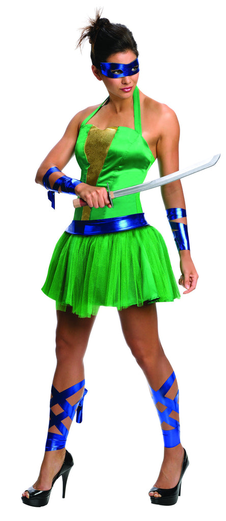 Womens/Teens Ninja Turtles Leonardo Costume - HalloweenCostumes4U.com - Adult Costumes