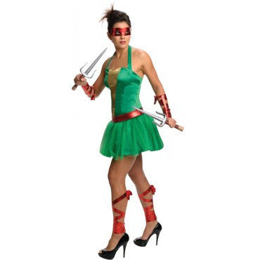 Womens/Teens Ninja Turtles Raphael Costume - HalloweenCostumes4U.com - Adult Costumes