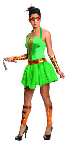 Womens/Teens Ninja Turtles Michelangelo Dress - HalloweenCostumes4U.com - Adult Costumes