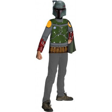 Boys Star Wars Boba Fett Shirt and Mask Set - HalloweenCostumes4U.com - Kids Costumes