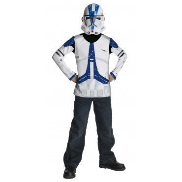 Boys Star Wars Clone Trooper Shirt and Mask - HalloweenCostumes4U.com - Kids Costumes