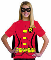 Girls Batman Robin T-Shirt Set - HalloweenCostumes4U.com - Kids Costumes