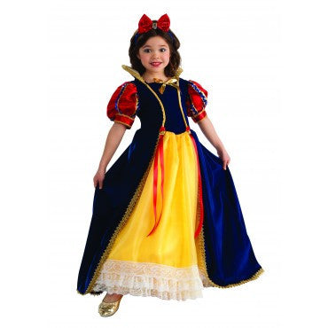 Girls Deluxe Snow White Costume - HalloweenCostumes4U.com - Kids Costumes