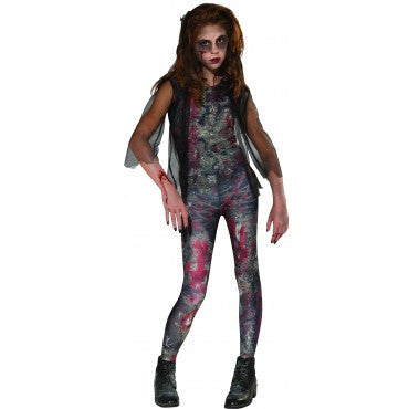 Girls Zombie Dawn Costume - HalloweenCostumes4U.com - Kids Costumes