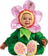 Infants Pink Pansy Flower Costume - HalloweenCostumes4U.com - Infant & Toddler Costumes