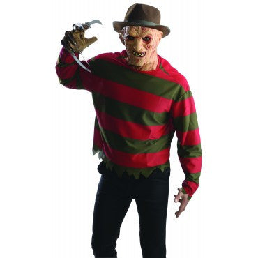 Mens/Teens Nightmare on Elm Street Freddy Shirt and Mask - HalloweenCostumes4U.com - Adult Costumes