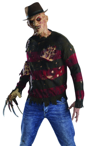 mensteens freddy sweater with burning latex flesh halloweencostumes4ucom adult costumes