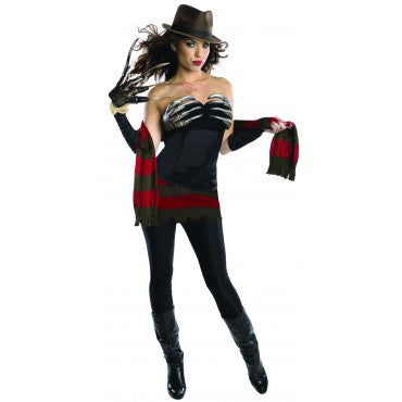 Womens/Teens Freddy Krueger Corset Costume - HalloweenCostumes4U.com - Adult Costumes