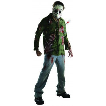 Mens/Teens Friday the 13th Deluxe Jason Voorhees Costume - HalloweenCostumes4U.com - Adult Costumes