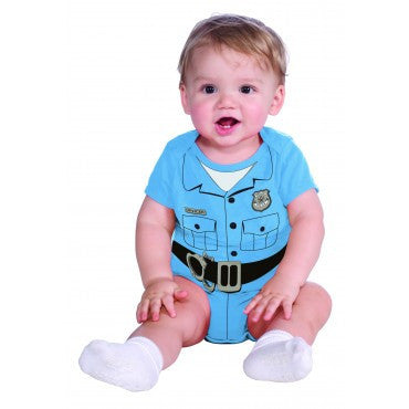 Newborn/Infant Police Officer Romper - HalloweenCostumes4U.com - Infant & Toddler Costumes